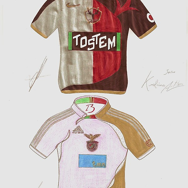 Kashima Antlers and Benfica Hand made design