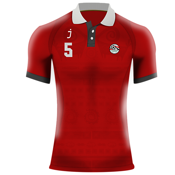 Egypt home jersey by J-sports