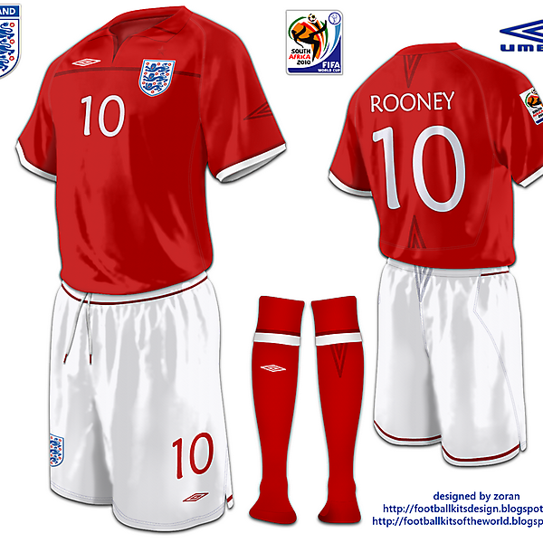 England World Cup 2010 fantasy away