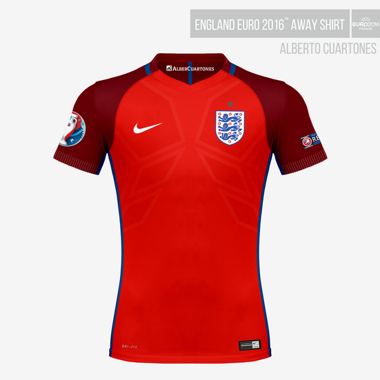 England UEFA EURO 2016™ Away Shirt