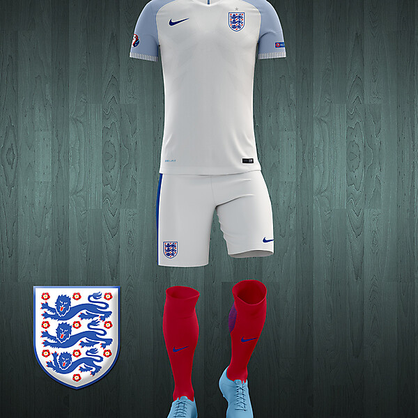 England UEFA Euro 2016 home kit