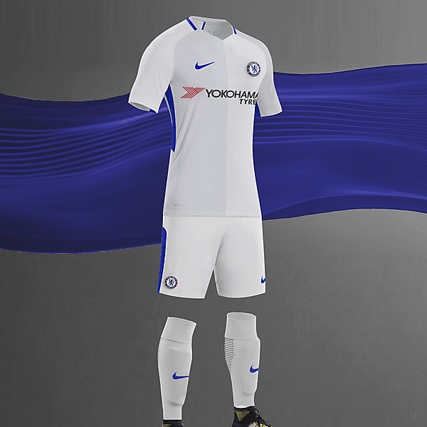 EPL NIKE KITS REDESIGN :Nike Chelsea Away 2017/18