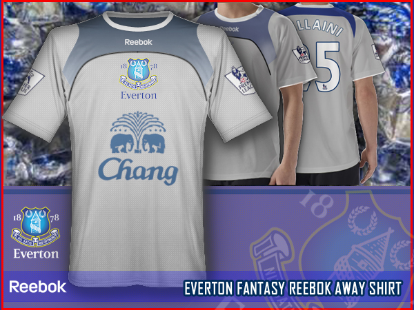 EVERTON fantasy reebok away shirt
