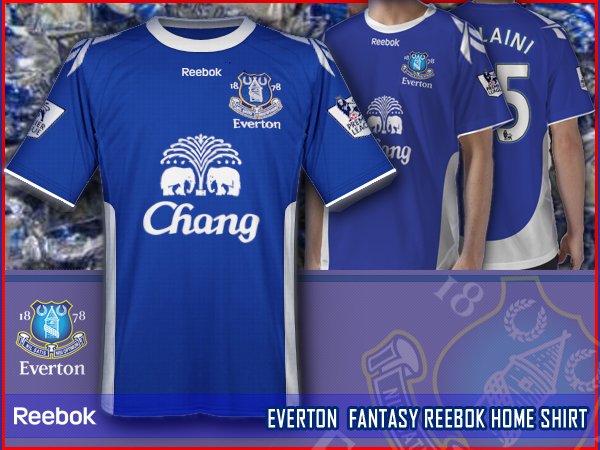 EVERTON fantasy reebok home shirt