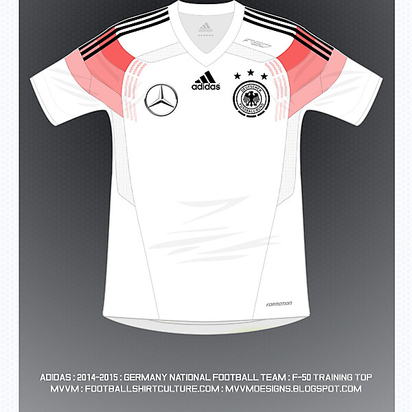 2014 Adidas F-50 Training Top : Germany National Football Team :