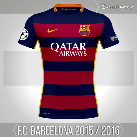 F.C. Barcelona 2015 / 2016 Home (according to leaks)
