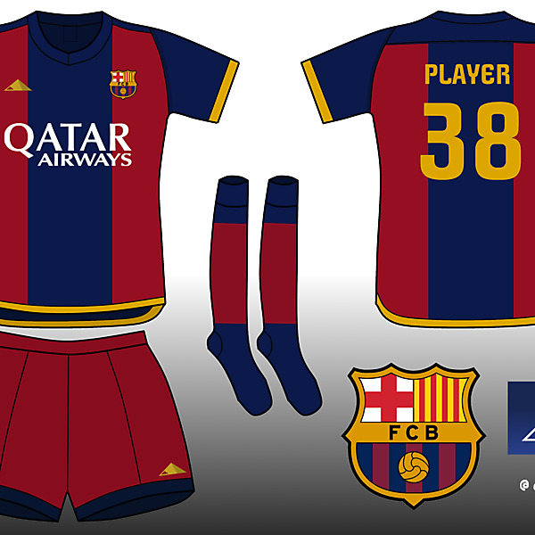 FC Barcelona. Home Kit
