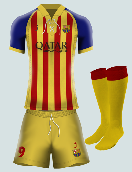 FC Barcelona third kit by J-sports