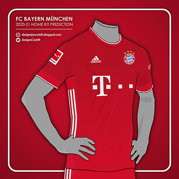 FC Bayern | 2020-21 Home Kit Prediction
