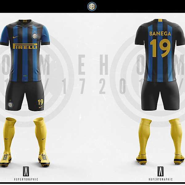 FC Internazionale Home Yellow Kit 2016-17| Concept/Unofficial