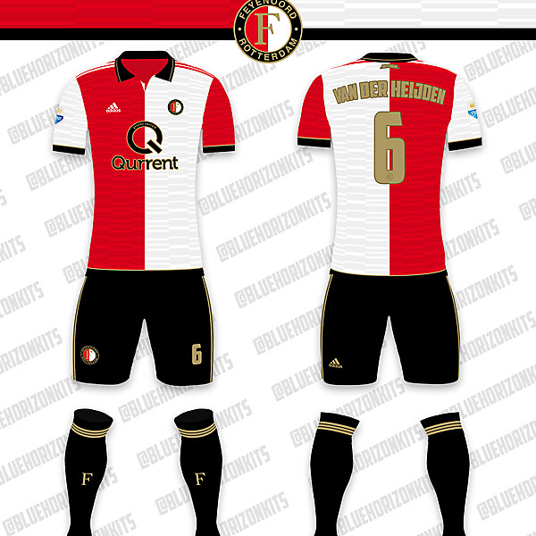 Feyenoord Home Kit (w/ new sponsor)