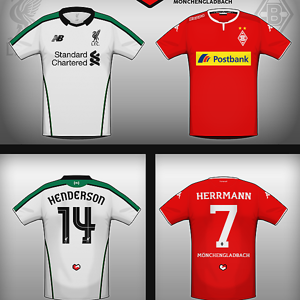 #footballfriends Liverpool and Borussia Mönchengladbach