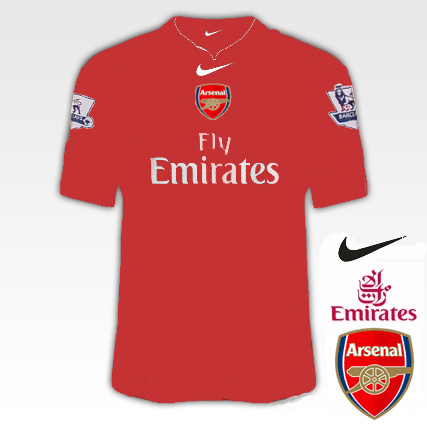 Arsenal 2010/11 Kit Designs