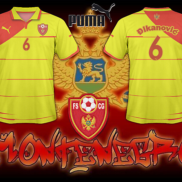 FS Montenegro Away Shirt 2010/11