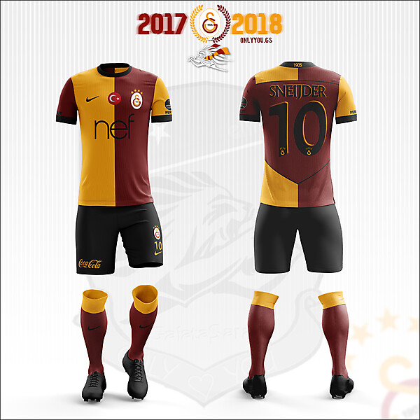 Galatasaray * Nike | 2017-2018 Home Kit