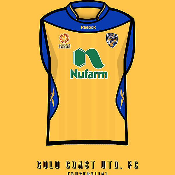 Gold Coast Utd. home kit.