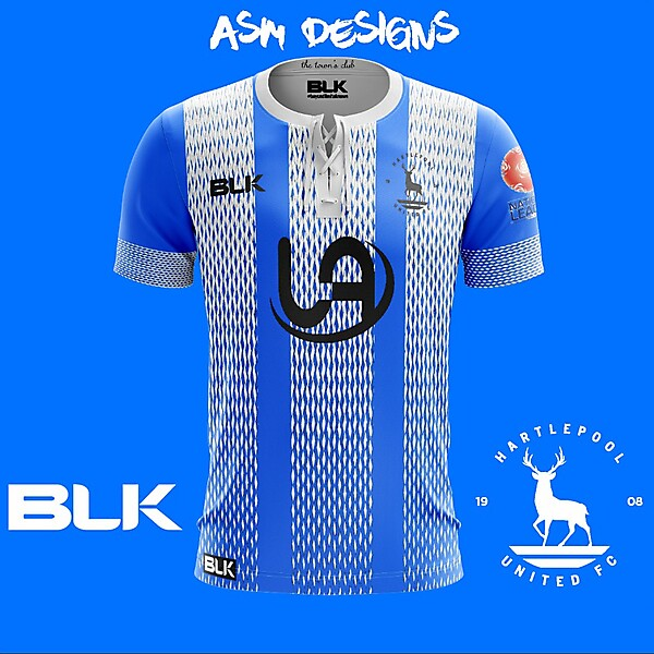 Hartlepool United F.C. 2018 BLK Home kit