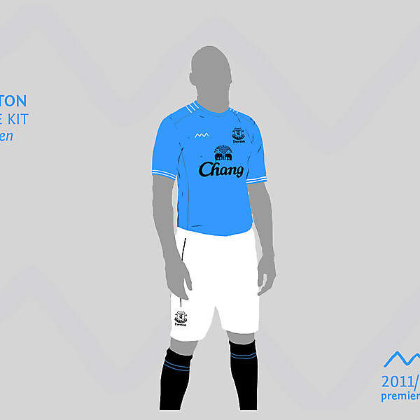 Everton home by green