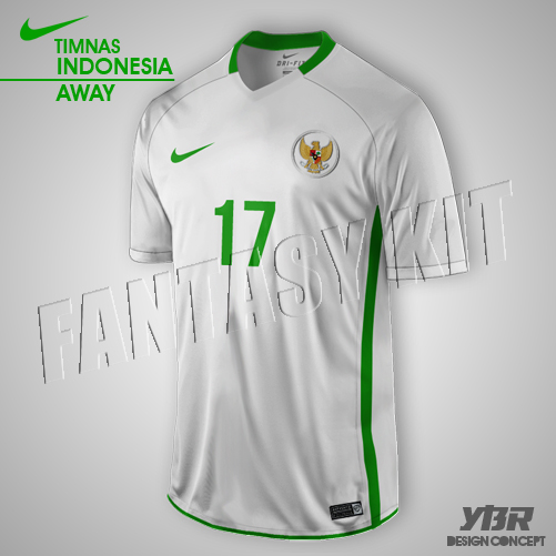 INDONESIA NATIONALY KIT NIKE 2016/2017 AWAY