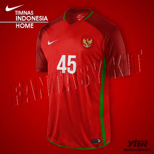INDONESIA NATIONALY KIT NIKE 2016/2017 HOME