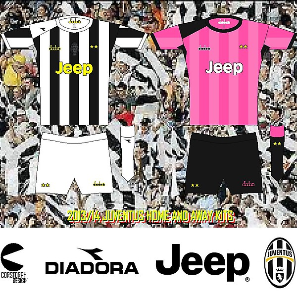 Juventus 013-14 diadora Home and Away