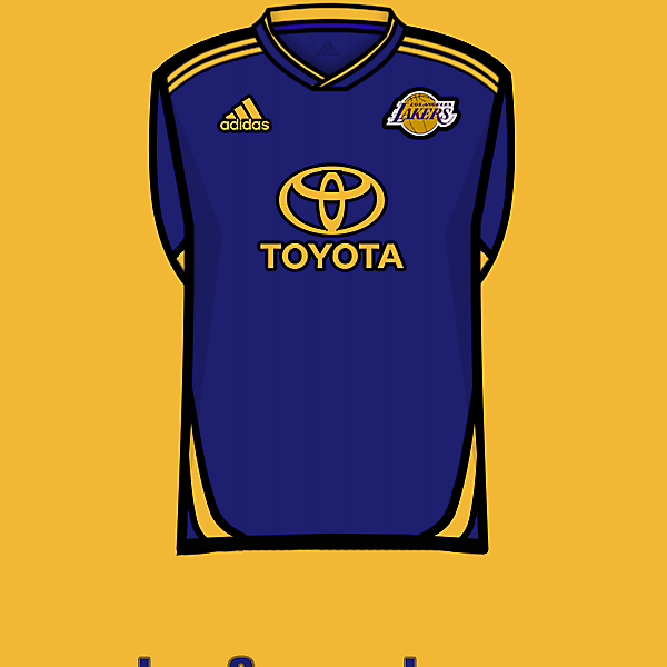 L.A.Lakers soccer team away<br />kit