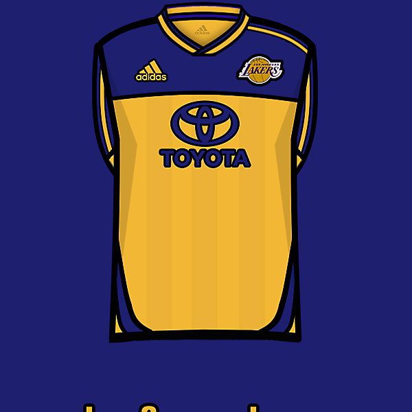 L.A.Lakers soccer team home<br />kit