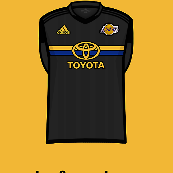 L.A.Lakers soccer team third<br />kit