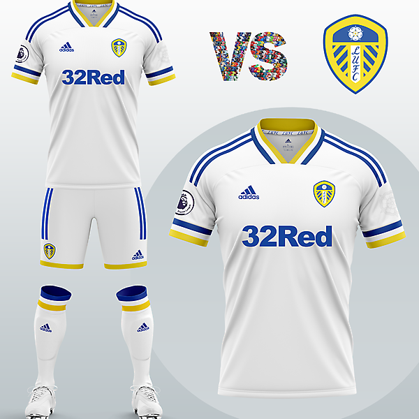Leeds United Home kit with Adidas (Concept 2020/21)