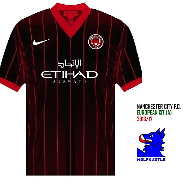 Man City Euro (A) - Pinstripe kit series #2