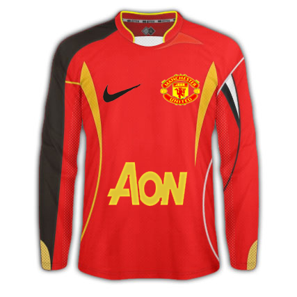 Manchester United' home kit