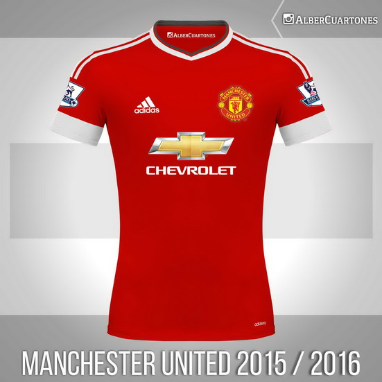 Manchester United 2015 / 2016 Home Shirt (according to leaks)