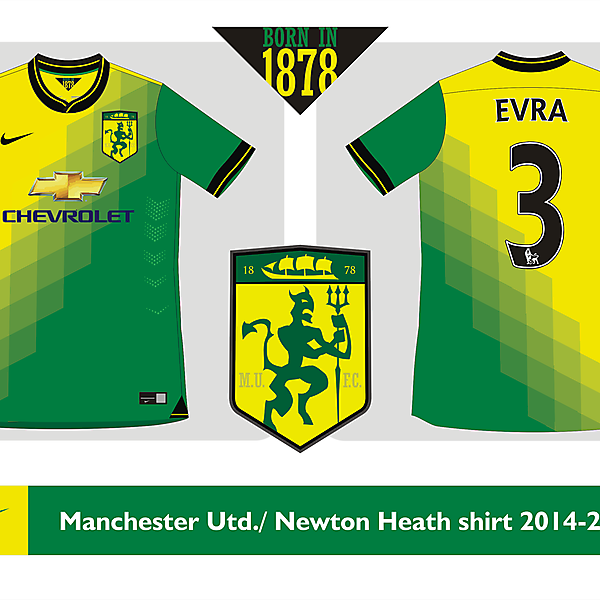 Manchester United / Newton<br />Heath shirt 2014 2015