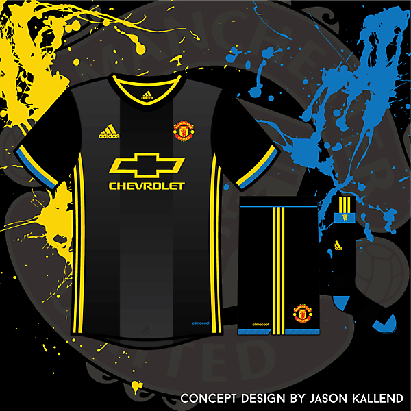 Manchester United Adidas Black Away