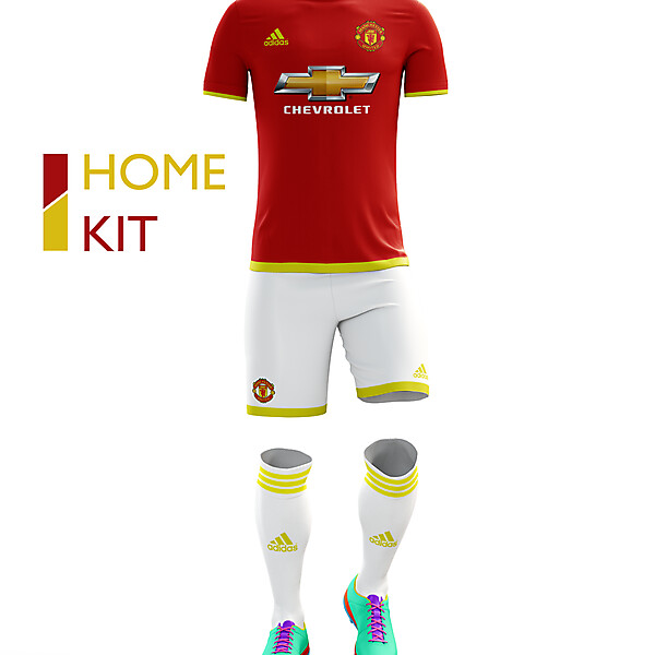 Manchester United Home Kit 16/17