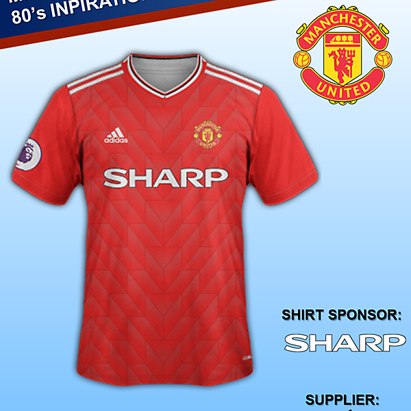 Manchester United Home Kit 1980' design
