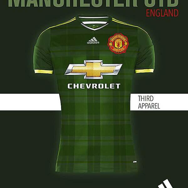 MANCHESTER UNITED THIRD KIT 2015-2016