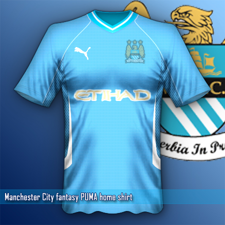 Manchester City puma fantasy home shirt
