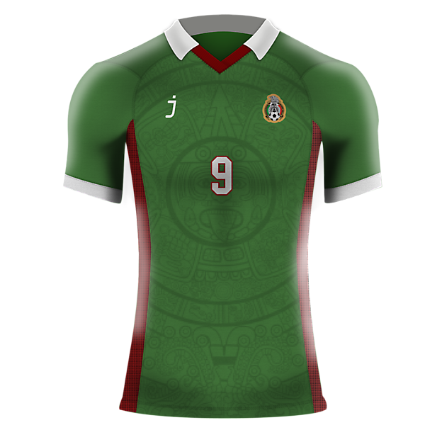 Mexico home shirt by J-sports