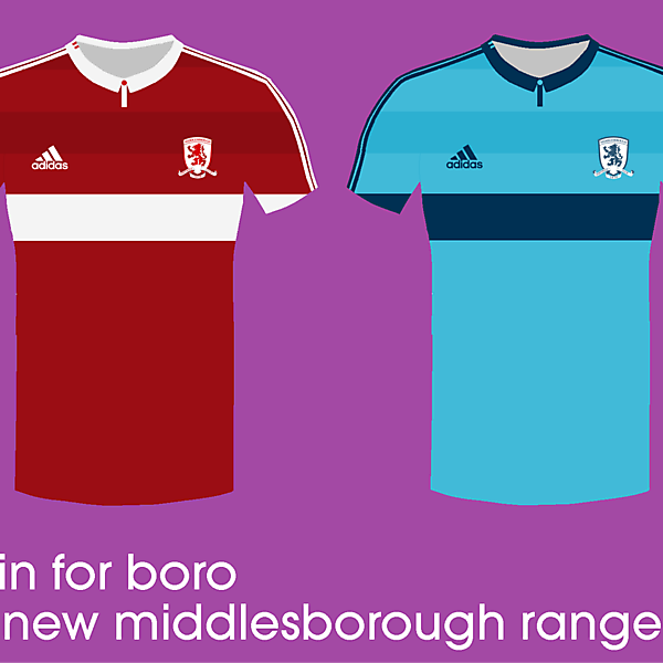 Middlesborough 14/15 kits by<br />adidas