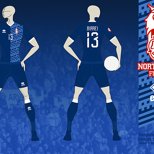 NE FUTSAL Away kit 01, based in Matupeco's crest v01