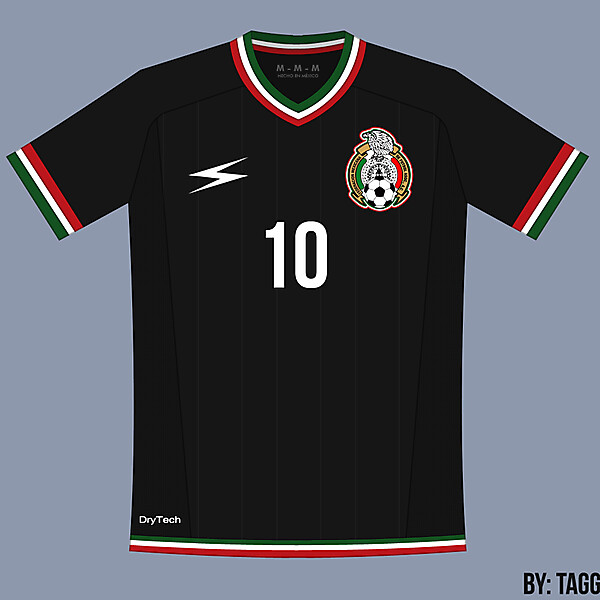Mexico Black Away Kit