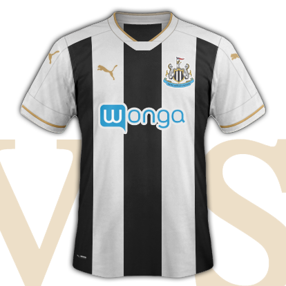 Newcastle United 2016-17 Home Shirt