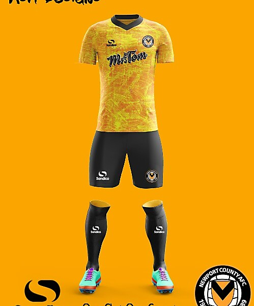 Newport County A.F.C.  2018 Sondico Home kit