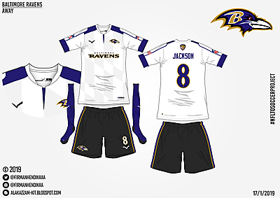 #NFLtoSoccerProject - Baltimore Ravens (Away)