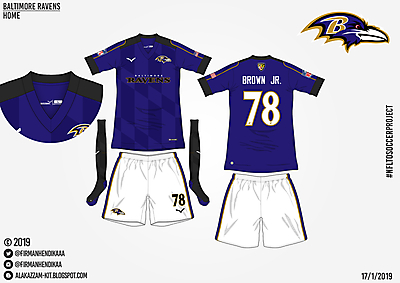 #NFLtoSoccerProject - Baltimore Ravens (Home)