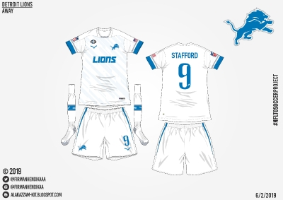 #NFLtoSoccerProject - Detroit Lions (Away)