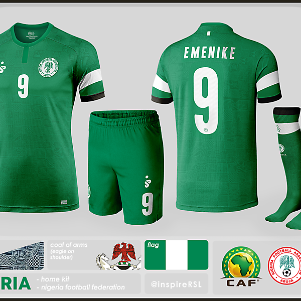 Nigeria Kit - World Cup Competition, Quarter Finals