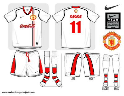 Manchester United Away Shirt with sponsor
