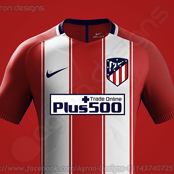 Nike Atlético Madrid 2017-18 Home Kit Prediction